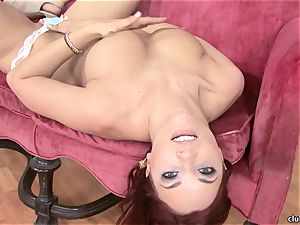 Jayden Cole whips out her yummy plump hooters