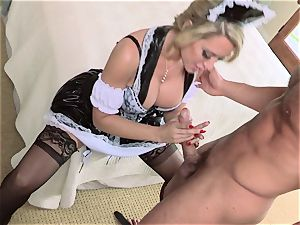 scorching maid Capri Cavanni gives her chief some extras