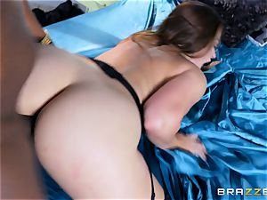 Dani Daniels takes this giant ebony prick with ease