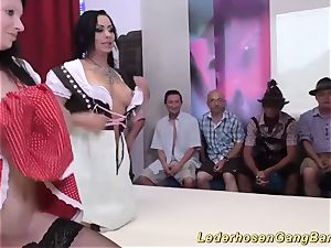 German lederhosen mass ejaculation party