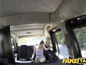 faux taxi Cabby attempts luck on scorching blondie with big knockers