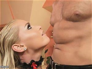 Kathia Nobili like tugging at shaft standing attention