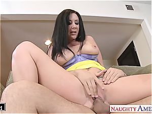 big-chested Jayden Jaymes licked out and humped rock-hard