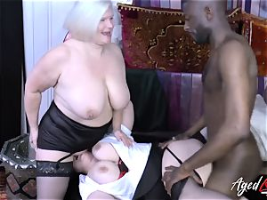 AgedLovE Lacey Starr multiracial 3some